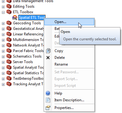 Using an Existing Transformation Tool
