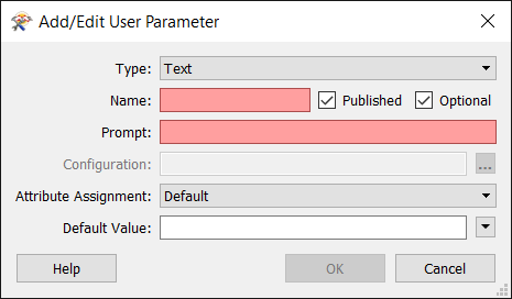 Creating and Modifying User Parameters